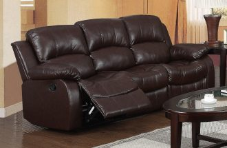 Leather Striped Sleeper Sofa  %Post Title