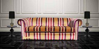 Red Stripe Sofa  %Post Title