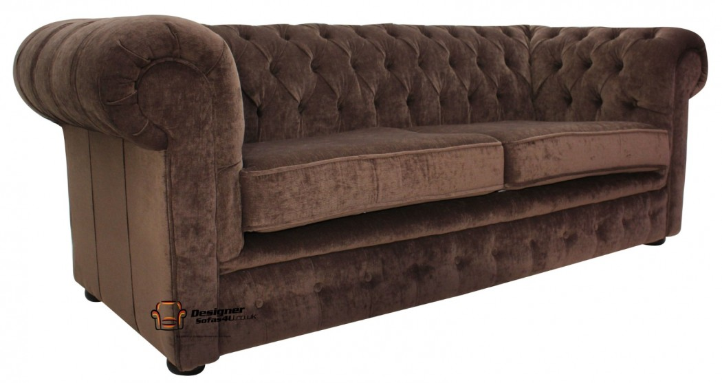 chesterfield-brown-fabric-sofa-settee