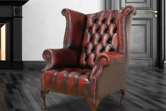 chesterfield-buttoned-seat-queen-anne-high-back-wing-chair-uk-manufactured-antique-oxblood