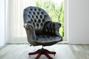 Chesterfield Directors Leather Office Chair Antique Autumn Olive HI