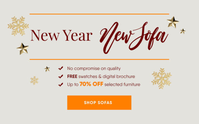 Designer Sofas 4U's New Year SALE - Up to 70% Off in store & online