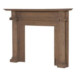 Rustic Wood Fire Surround