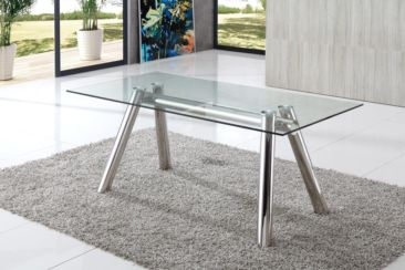 Bentley Modern Glass Dining Table