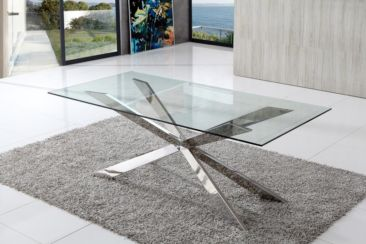 Bravo Italian Glass Dining Table