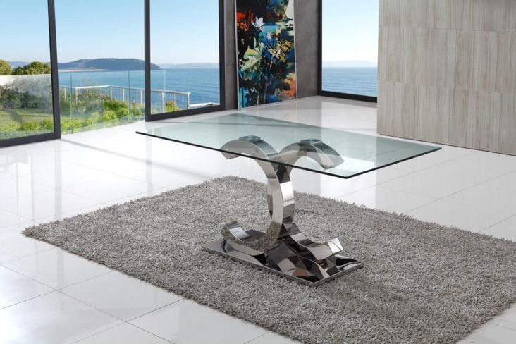 Piper Modern Stylish Glass Dining Table