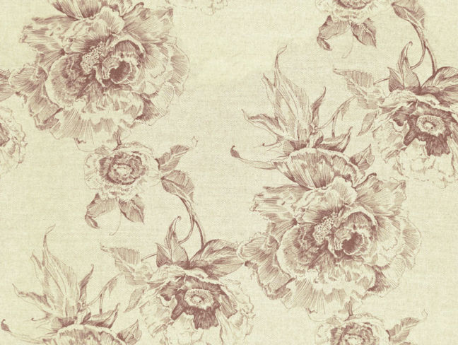 Chatsworth Print Damson
