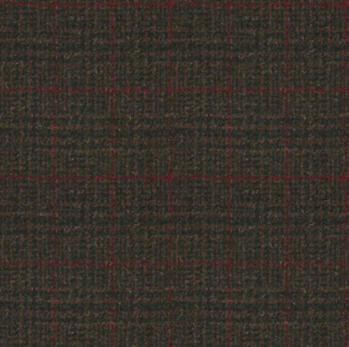 Harris Tweed Stag Check Regal Estate Loden