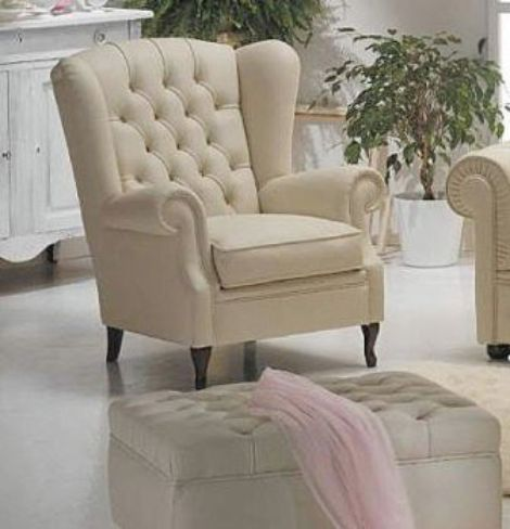 Classic Armchairs with Footstools - Designer Sofas 4U