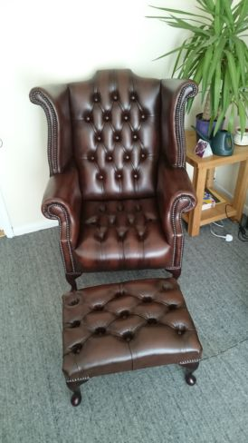 Chesterfield Ann Wing Chair Leather - Designer Sofas 4U Customer Picture