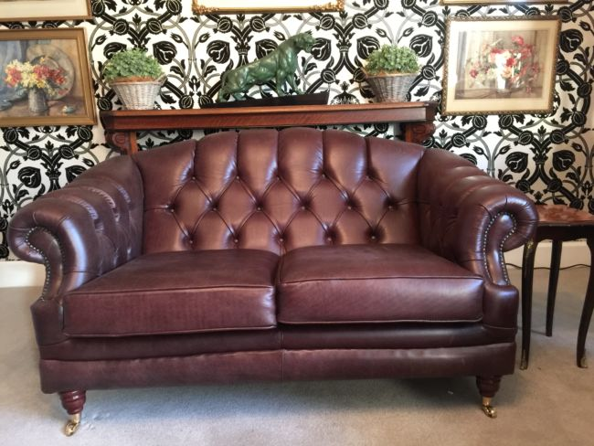 Chesterfield Handcrafted Leather Sofa Picture from Designer Sofas 4U Customer
