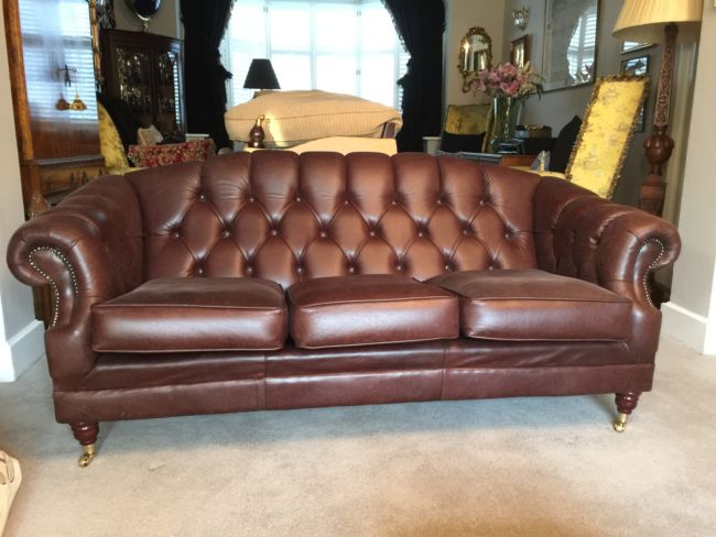 Chesterfield Leather Sofa - Designer Sofas 4U Customer Picture