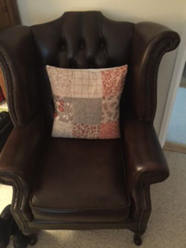 Chesterfield Queen Fireside Wing Leather Chair - Designer Sofas 4U Customer Picture