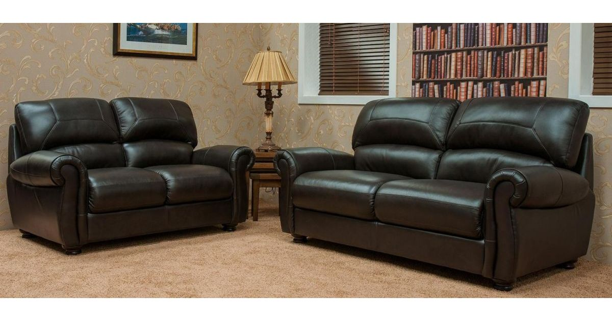 Cambridge 3 2 seater leather sofa suite available in for Affordable furniture cambridge