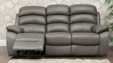 Picasso Reclining 3 Seater Leather Sofa Available In Grey