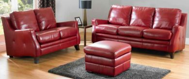 Saverno 3+2 Seater Leather Sofa Suite