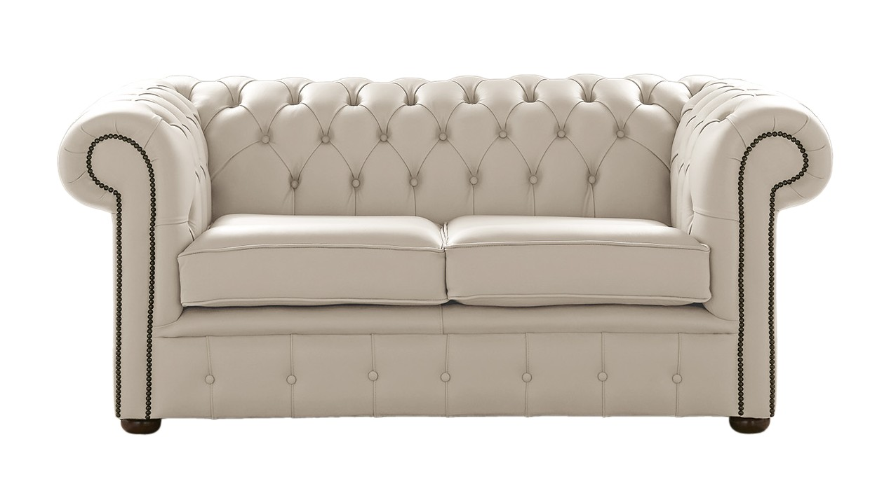 Picture of: Designersofas4u Beige Leather Chesterfield Sofa