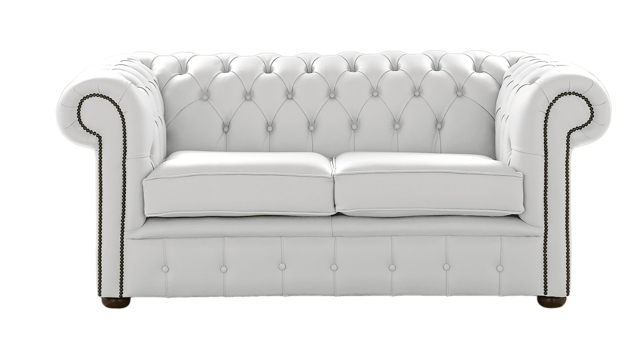 Designersofas4u White Leather Chesterfield Sofa