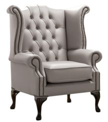Chesterfield Queen Anne High Back Wing Chair Shelly Rocking Leather