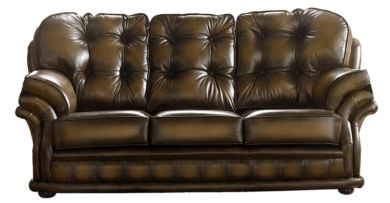 Chesterfield Handmade Knightsbridge 3 Seater Sofa Antique Tan Leather
