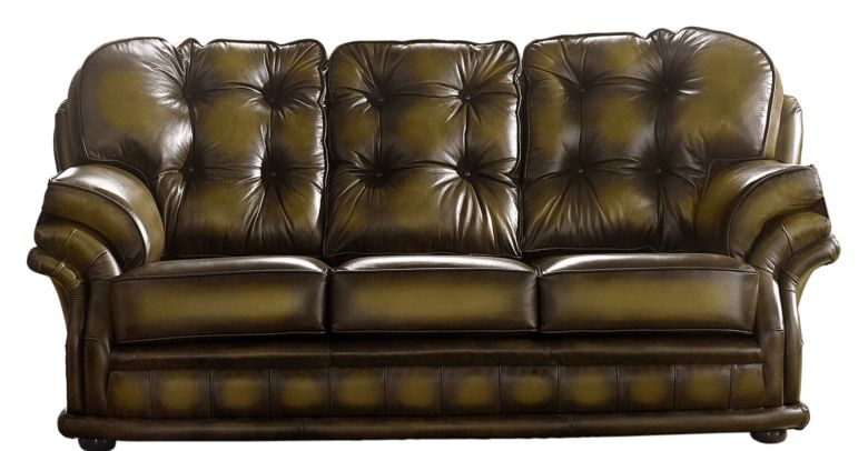 Chesterfield Handmade Knightsbridge 3 Seater Sofa Antique Gold Leather
