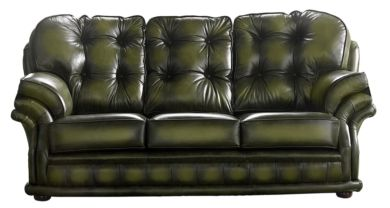 Chesterfield Handmade Knightsbridge 3 Seater Sofa Antique Olive Leather