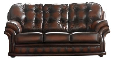 Chesterfield Handmade Knightsbridge 3 Seater Sofa Antique Rust Leather
