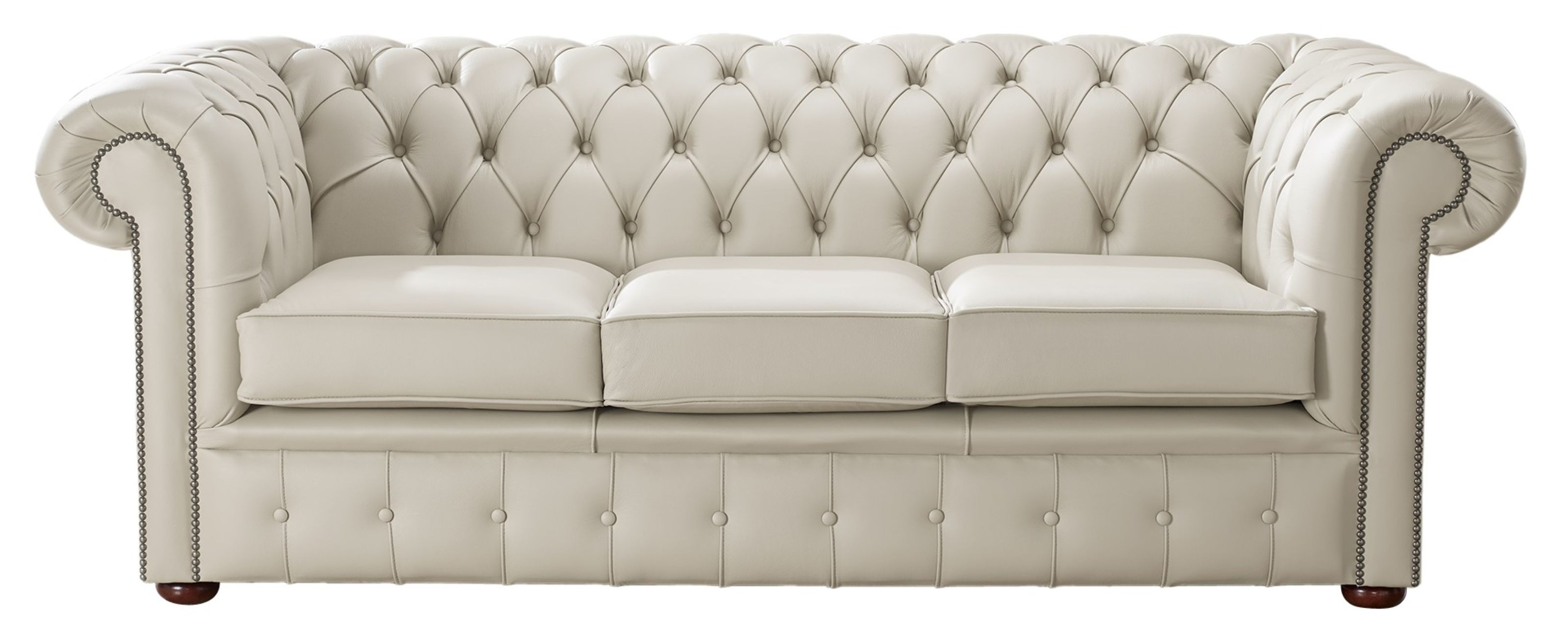 Picture of: Beige Leather Chesterfield 3 Seater Sofa Designersofas4u