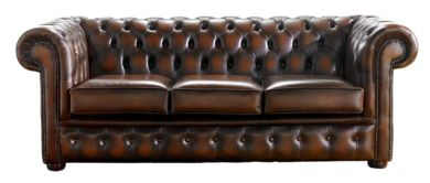Chesterfield Handmade 3 Seater Sofa Antique Rust Leather