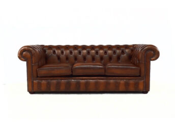 Chesterfield Handmade 3 Seater Sofa Antique Autumn Tan Leather