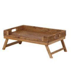 Brown Rattan Breakfast Tray