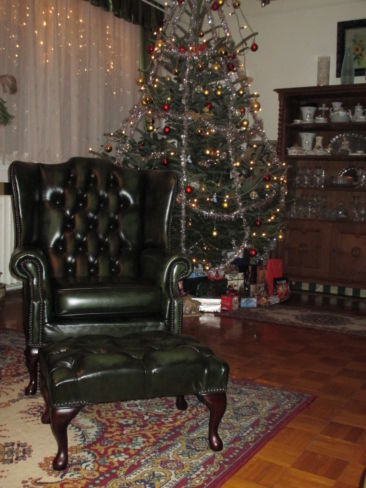 Chesterfield Leather Green Ann Chair - Designer Sofas 4U Picture