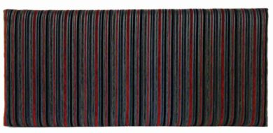 Neptune Argent Stripe Black - Single Bed Headboard