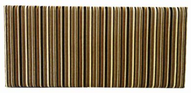 Neptune Argent Stripe Mocha - Double Bed Headboard