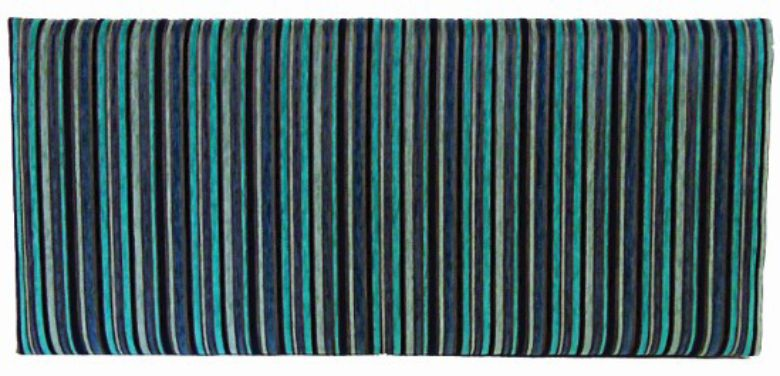 Neptune Argent Stripe Turquoise - Super King Bed Headboard