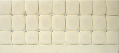 Saturn Bling Basket Cream - Kingsize Bed Headboard