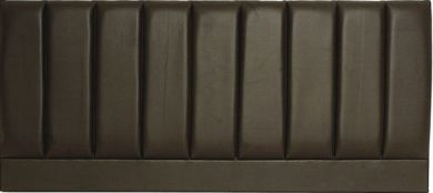 Pluto Espresso Faux leather - Super Kingsize Bed Headboard