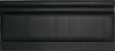 Mercury Black Faux Leather - Super Kingsize Bed Headboard