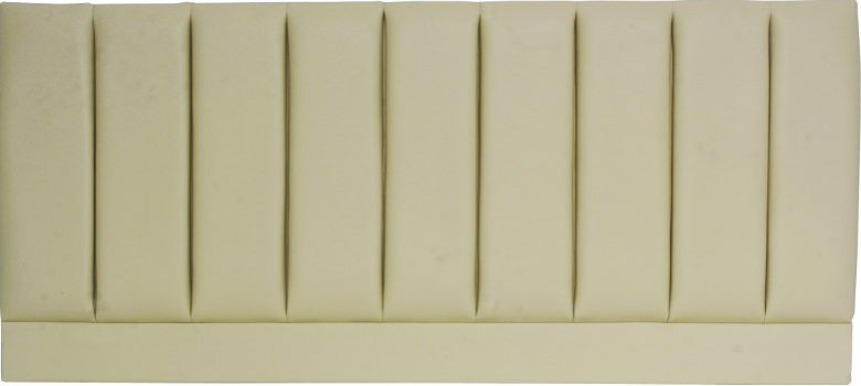 Pluto Cream Faux Leather - Super Kingsize Bed Headboard
