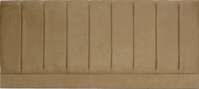 Pluto Tan Suede - Super Kingsize Bed Headboard