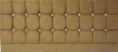 Saturn Bling Suede Tan - Single Bed Headboard