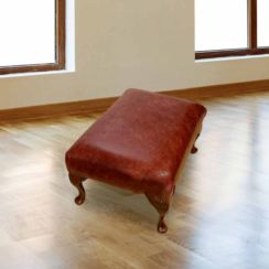 Chesterfield 1930's Queen Anne Footstool UK Manufactured Old English Chestnut