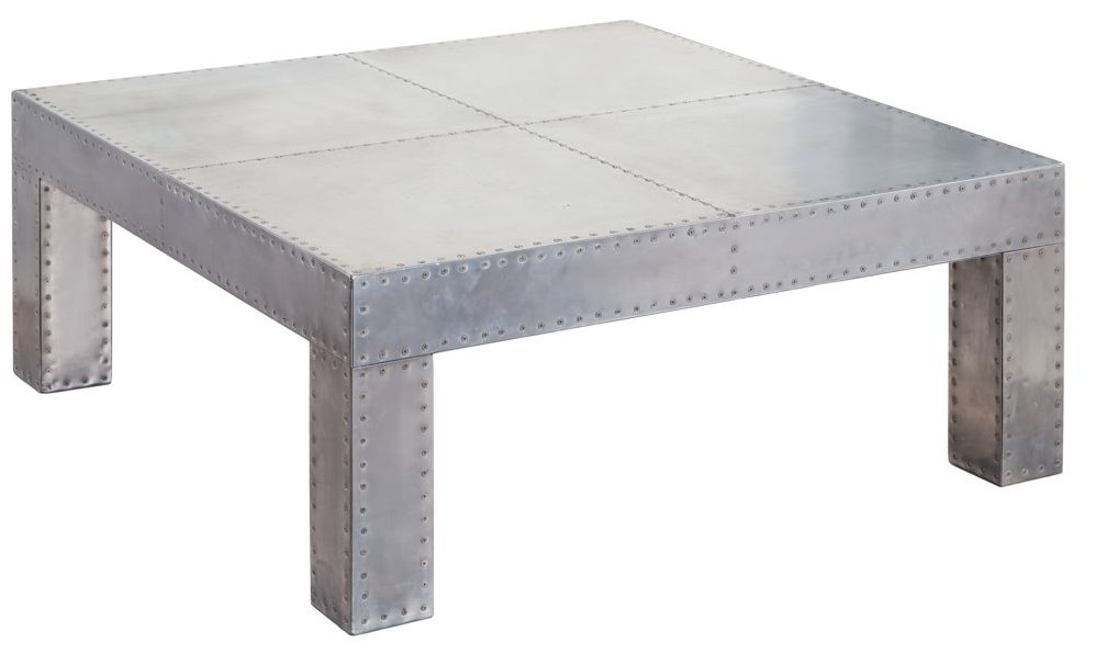 Aviator Aluminium Large Square Coffee Table Vintage Coffee Tables By Designer Sofas For You