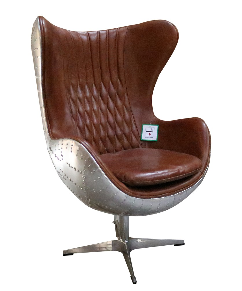 swivel egg arm chair