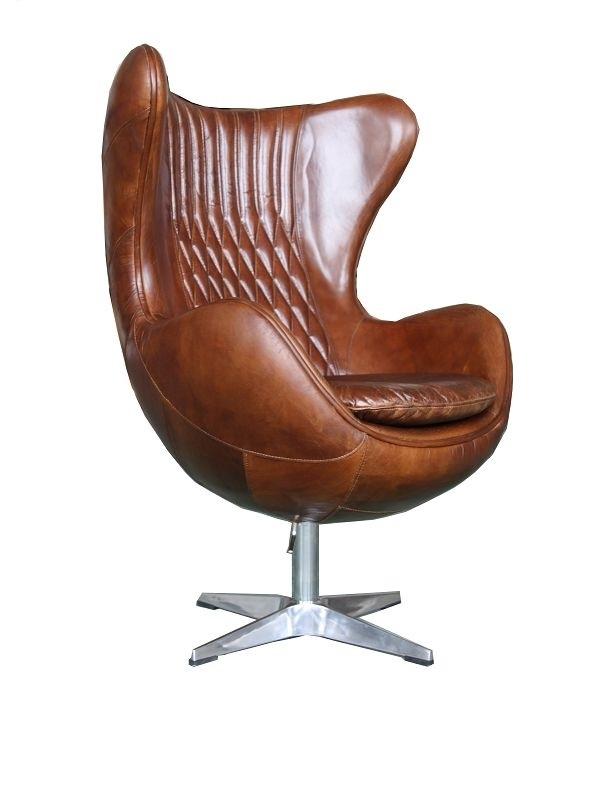 Pleasant Aviator Retro Swivel Egg Vintage Distressed Leather Armchair Beatyapartments Chair Design Images Beatyapartmentscom