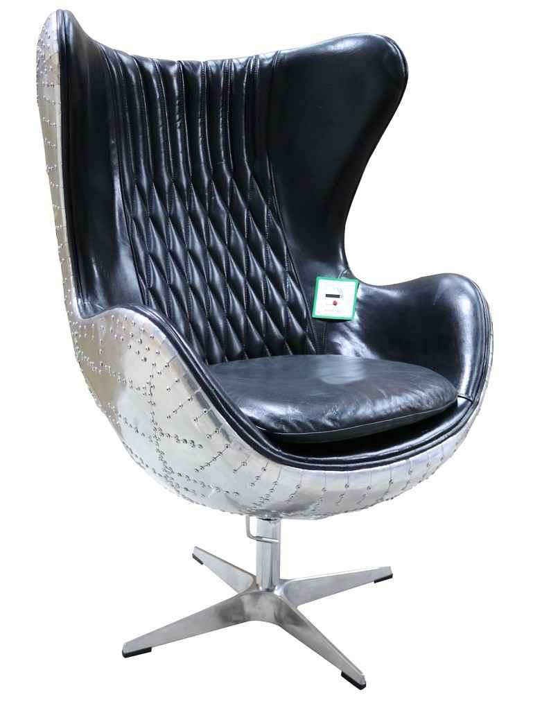 Fabulous Aviator Retro Swivel Egg Aluminium Black Distressed Leather Armchair Beatyapartments Chair Design Images Beatyapartmentscom