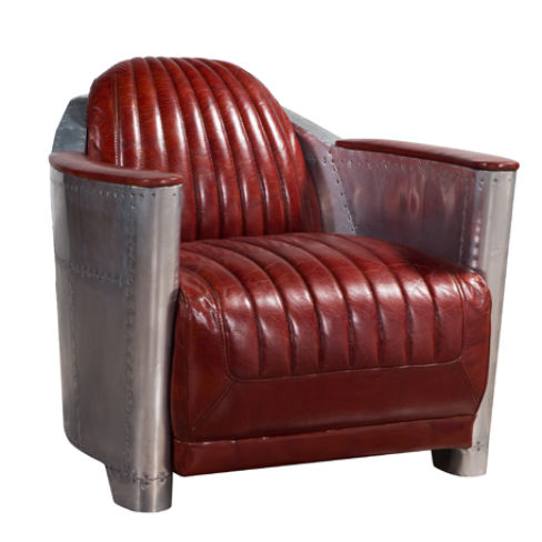 Aviator Vintage Rocket Tub Chair Distressed Leather