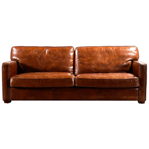 Battersea Vintage Distressed Leather 3 Seater Sofa