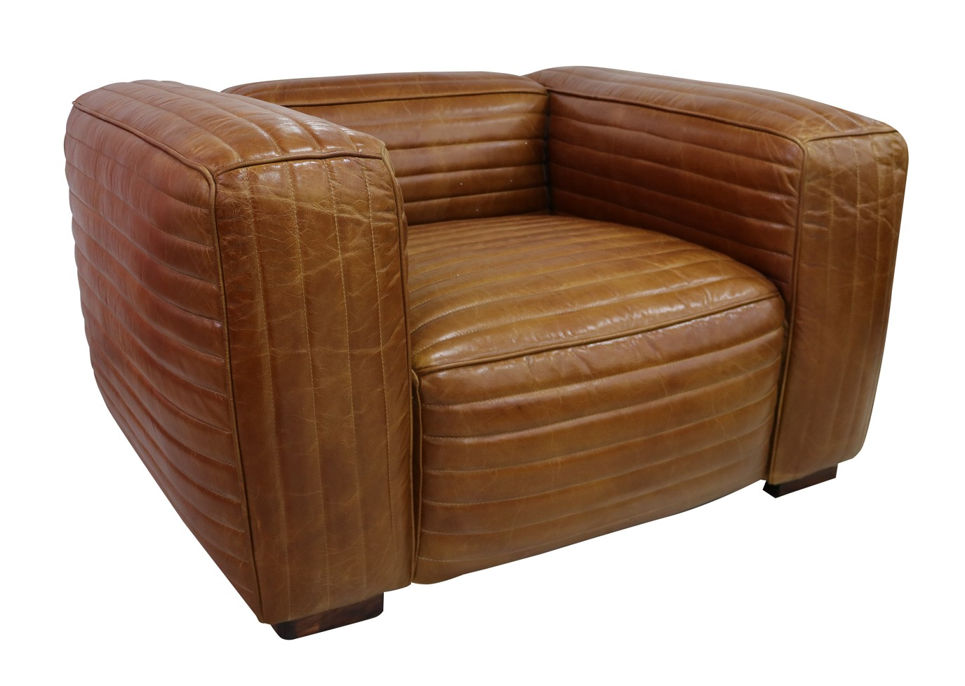 belgrave vintage luxury retro distressed leather armchair tan