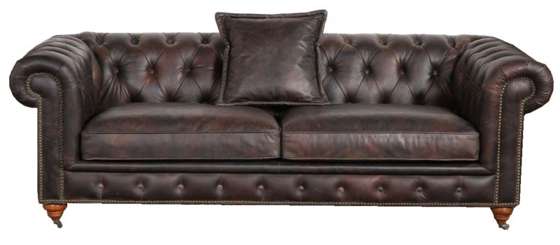 Berlin Chesterfield Vintage Distressed Leather 2 Seater Sofa